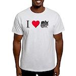 I Love Chinchillas Light T-Shirt