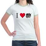 I Love Chinchillas Jr. Ringer T-Shirt
