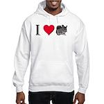 I Love Chinchillas Hooded Sweatshirt