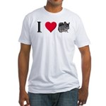 I Love Chinchillas Fitted T-Shirt