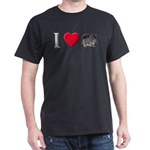 I Love Chinchillas Dark T-Shirt