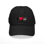 I Love Chinchillas Black Cap