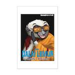 Dalai Lemur Mini Poster Print
