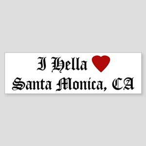 Hella Love Santa Monica Bumper Sticker