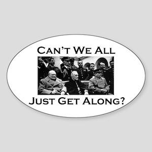 Get Along - Oval Sticker