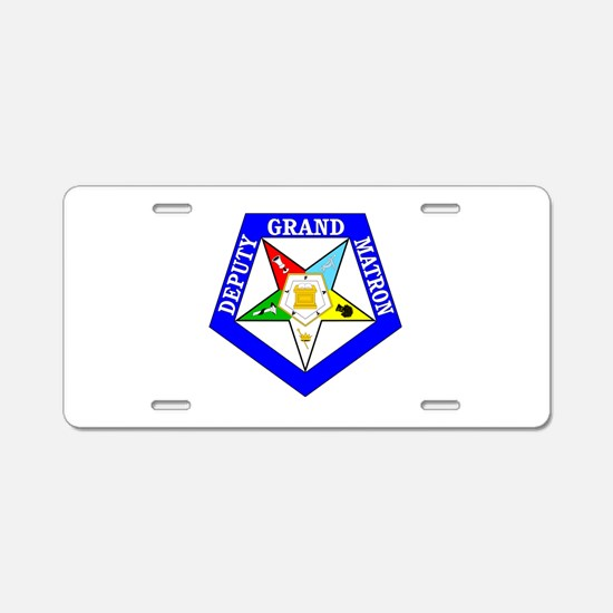 Deputy Grand Matron Aluminum License Plate