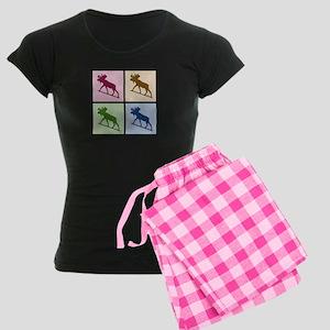 Moose (4 color) Women's Dark Pajamas