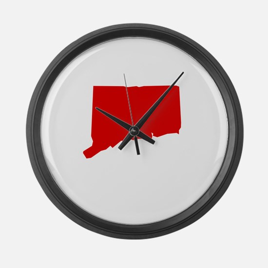 Red Connecticut Large Wall Clock