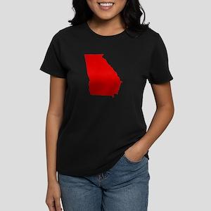 Red Georgia Women's Dark T-Shirt