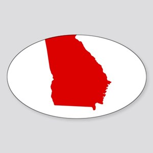 Red Georgia Sticker (Oval)