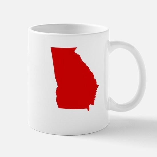 Red Georgia Mug