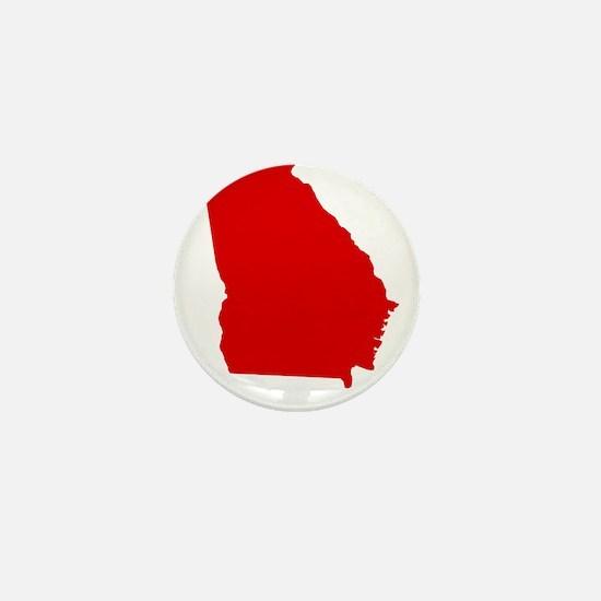 Red Georgia Mini Button