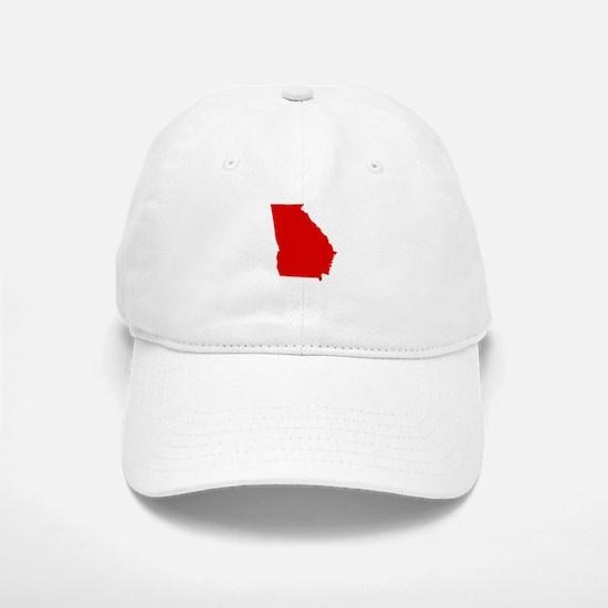 Red Georgia Baseball Baseball Cap