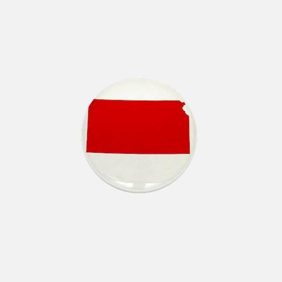 Red Kansas Mini Button
