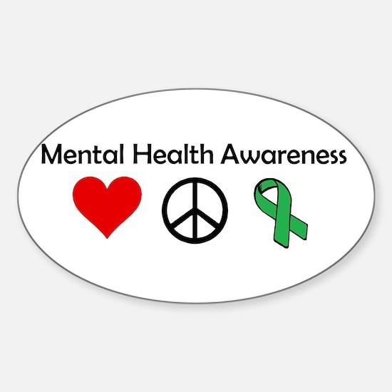 love, peace, awareness Decal