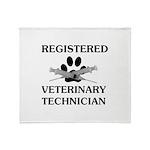 Registered Veterinary Tech Throw Blanket