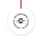 Registered Veterinary Tech Ornament (Round)