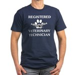 Registered Veterinary Tech Men's Fitted T-Shirt (d