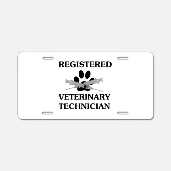 Registered Veterinary Tech Aluminum License Plate