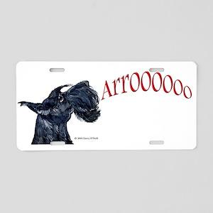 Arroo Scottish Terrier Aluminum License Plate
