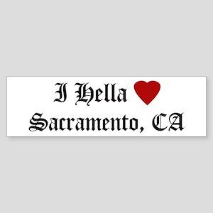 Hella Love Sacramento Bumper Sticker