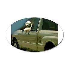 Go, Dog, Go! 22x14 Oval Wall Peel