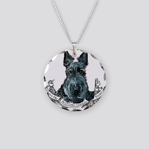 Scottish Terrier Love Necklace Circle Charm