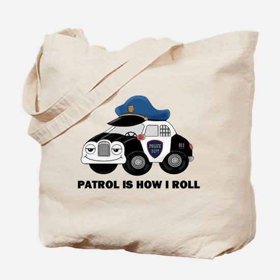 Police Car Tote Bag