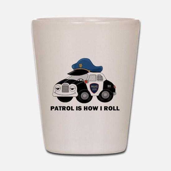 Police Car Shot Glass