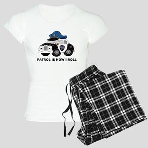 Police Car Women's Light Pajamas