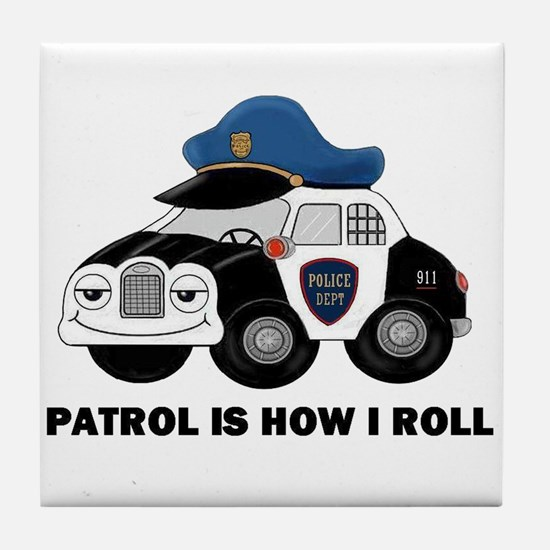 Police Car Tile Coaster