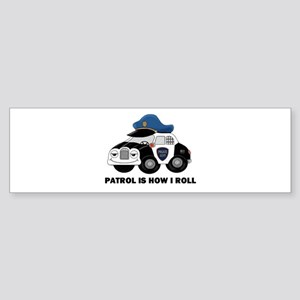 Police Car Sticker (Bumper)