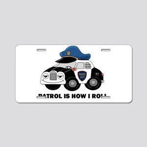 Police Car Aluminum License Plate