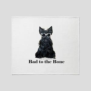 Scottie Bad to the Bone Throw Blanket