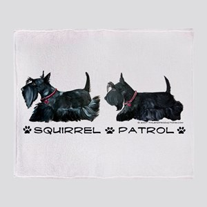 Scottie Squirrel Patrol Terri Throw Blanket