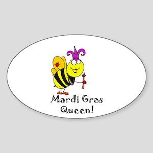 Mardi GRAS Queen Sticker (Oval)