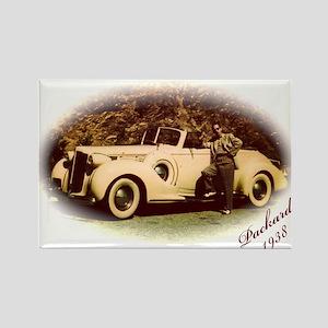Yellow Packard Rectangle Magnet