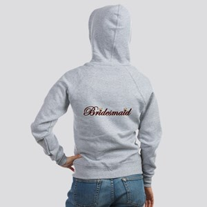 Autumn Bridesmaid 'Day of' Zip Hoodie