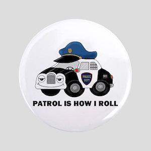 """POLICE CAR 3.5"""" Button"""