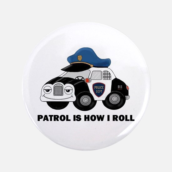 "POLICE CAR 3.5"" Button"