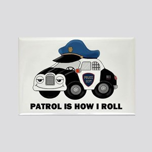 POLICE CAR Rectangle Magnet