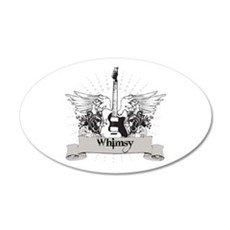 Whimsy Guitar 22x14 Oval Wall Peel