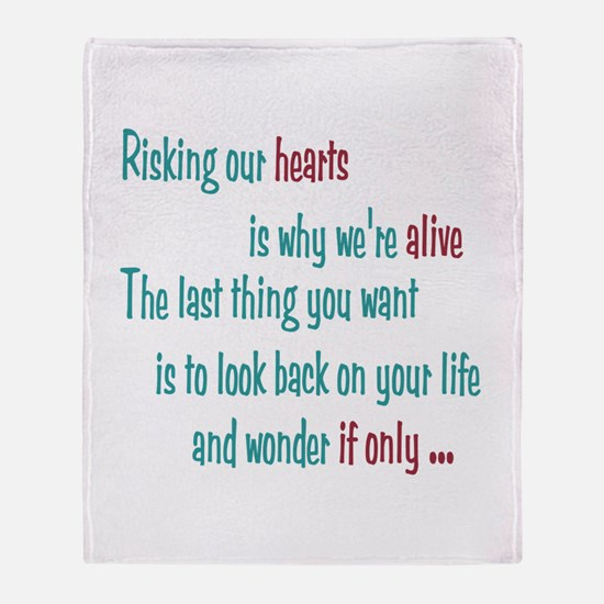 Castle: Risking Our Hearts Throw Blanket