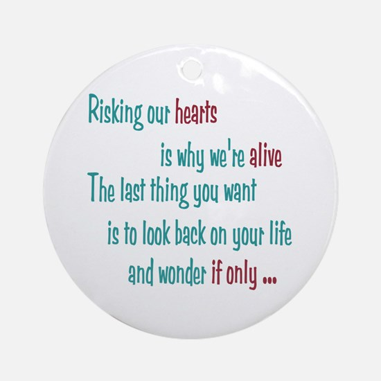 Castle: Risking Our Hearts Ornament (Round)