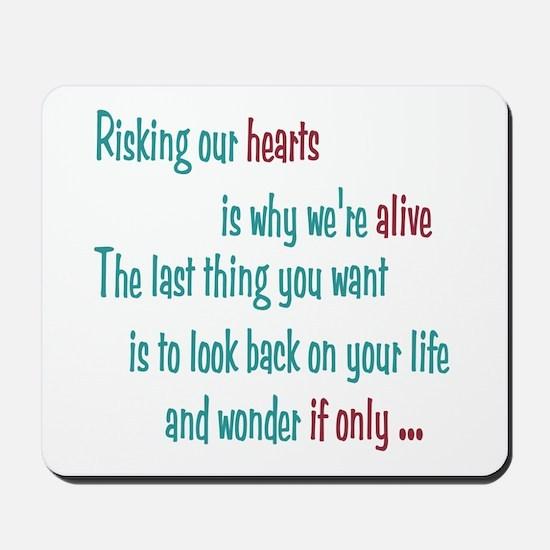 Castle: Risking Our Hearts Mousepad
