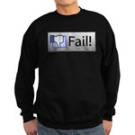 facebook fail Sweatshirt (dark)