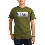 facebook fail Organic Men's T-Shirt (dark)