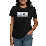 facebook fail Women's Dark T-Shirt