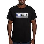 facebook fail Men's Fitted T-Shirt (dark)