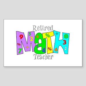 Retired Teacher II Sticker (Rectangle)